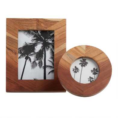 Ombre Stained Wood Frame