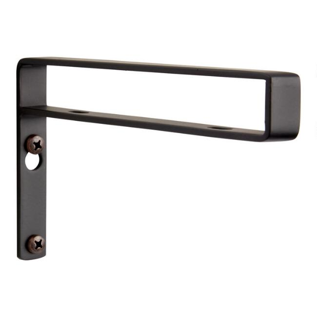 Black Strap Mix & Match Shelf Brackets Set of 2