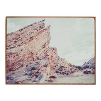 Vasquez Rocks Framed Canvas Wall Art