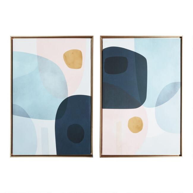 Gold Monde I-II by Victoria Borges Framed Wall Art Set of 2