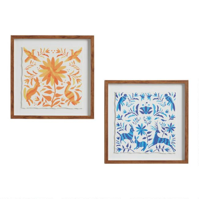 Oaxacan Print Float Frame Wall Art