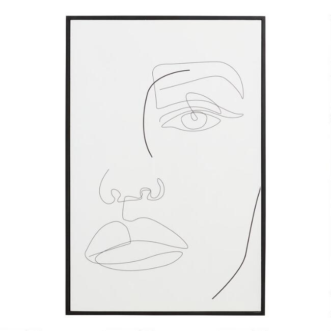 Face Lines by Madara Framed Wall Art
