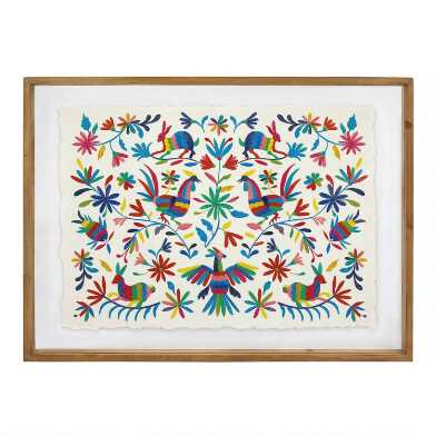 Otomi 1 by Bella Gomez Framed Wall Art