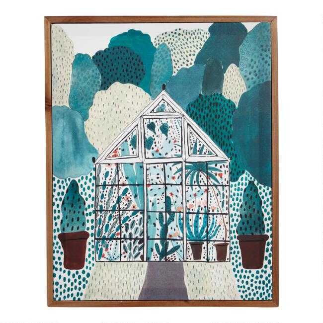 Greenhouse by Sara Boccaccini Meadows Framed Canvas Wall Art