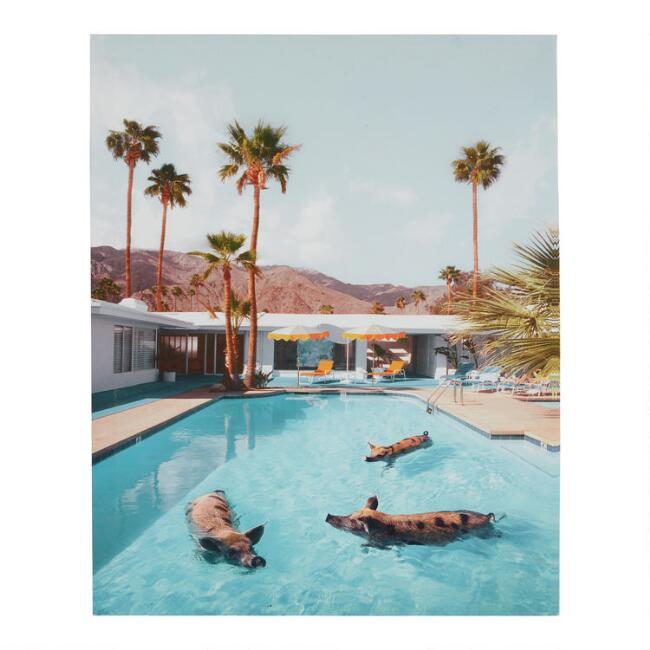 Pig Party by Paul Fuentes Canvas Wall Art