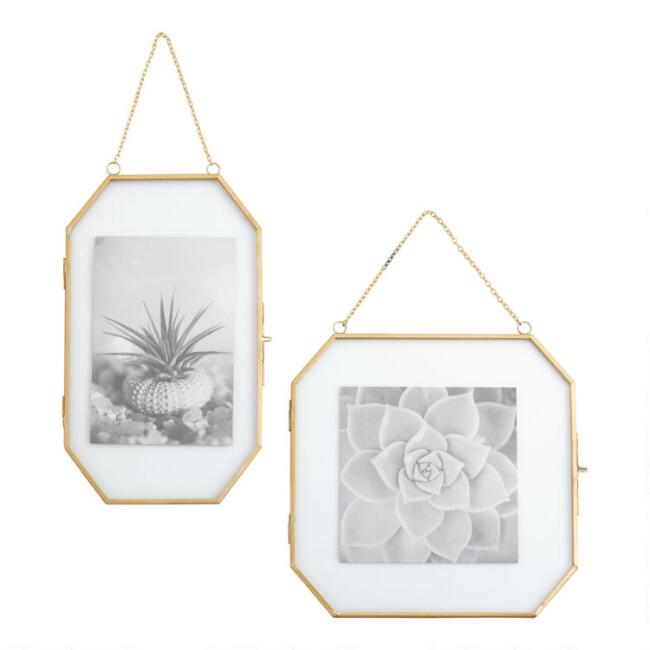 Gold Octagon Hanging Wall Frame