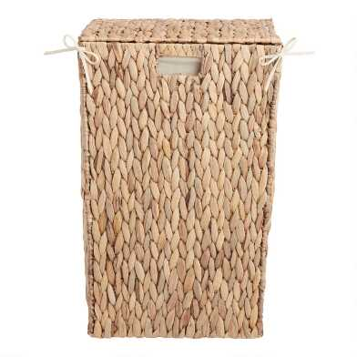 Natural Hyacinth Willa Laundry Hamper with Lid