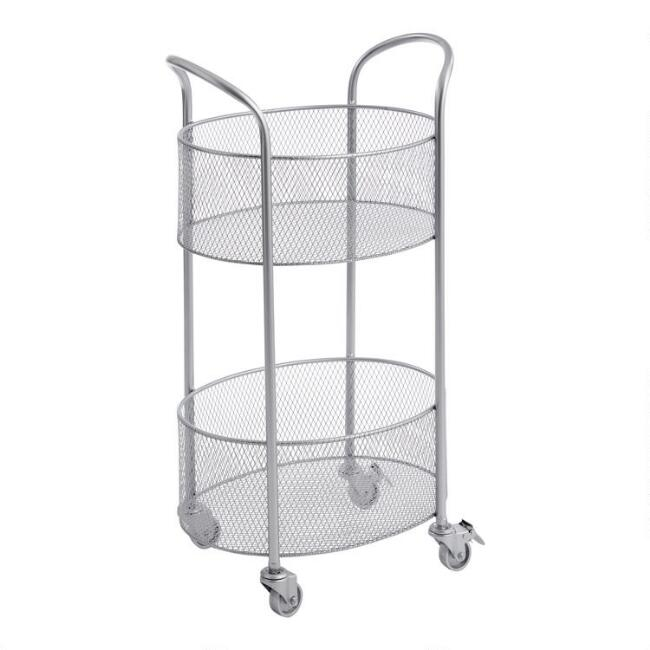 Satin Nickel Estrella Rolling Cart