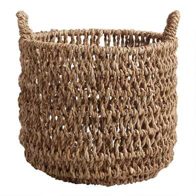 Large Natural Hyacinth Fallon Tote Basket