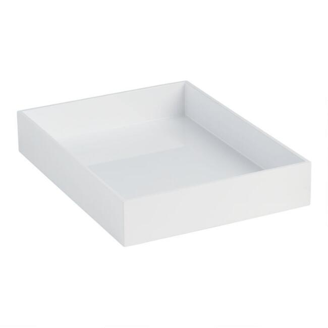 White Lacquer Kinsley Organizing Tray