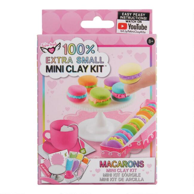 100% Extra Small Mini Macarons Clay Craft Kit