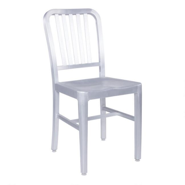 Brushed Nickel Blaine Dining Chairs Set of 2