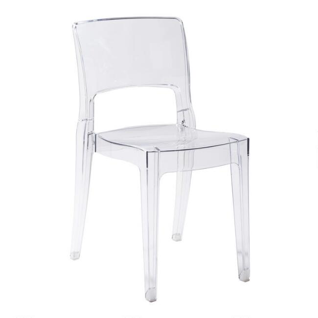 Clear Acrylic Sophia Dining Chairs Set of 4