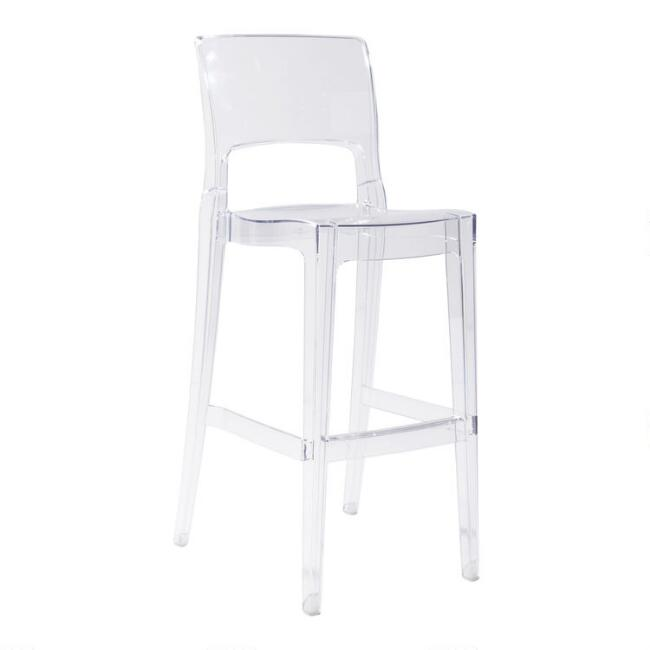 Clear Acrylic Sophia Barstools Set of 2