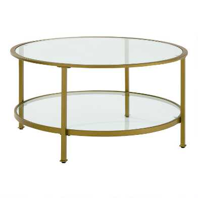 Round Milayan Coffee Table With Shelf