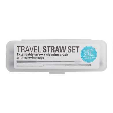 Collapsible Travel Straw Set