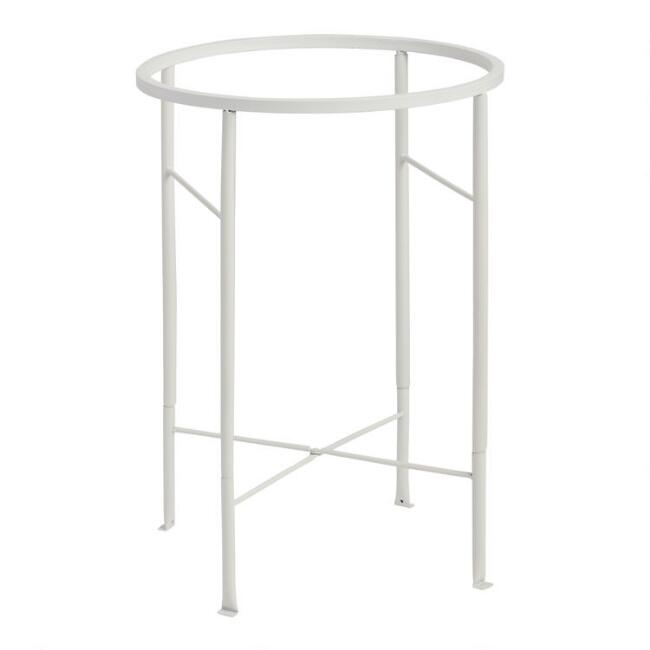 White Metal Party Tub Stand