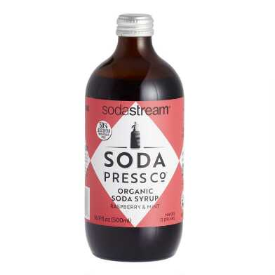 Soda Press Organic Raspberry & Mint Soda Syrup