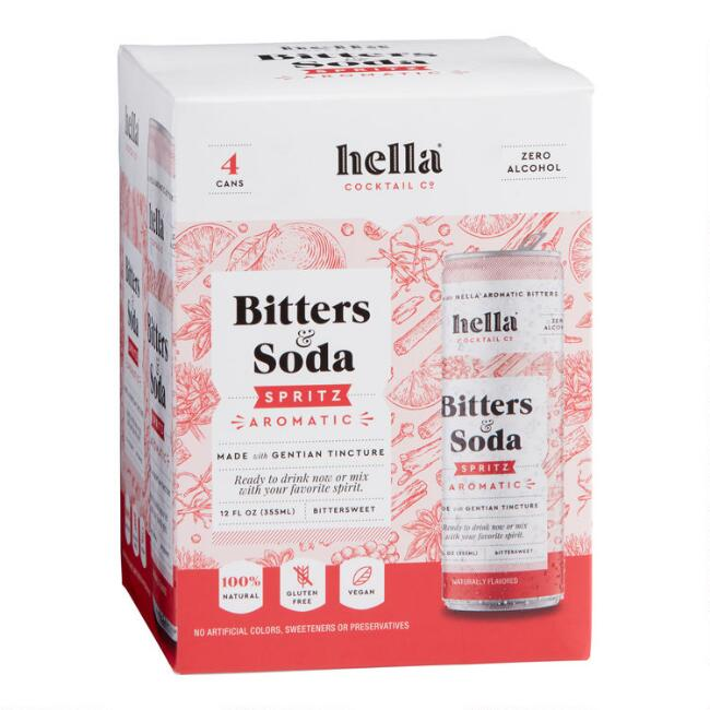 Hella Bitters & Soda Spritz Aromatic 4 Pack