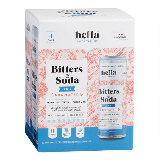 Hella Bitters And Soda Dry Aromatic 4 Pack