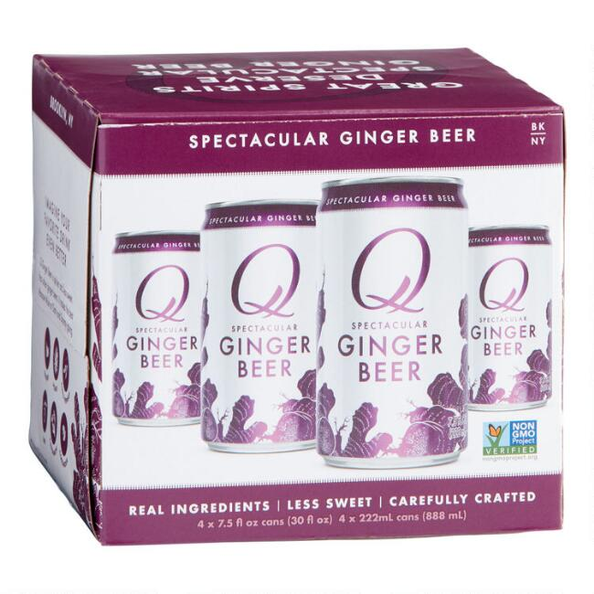 Q Mixers Ginger Beer Cans 4 Pack