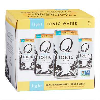 Q Mixers Light Tonic Water Cans 4 Pack