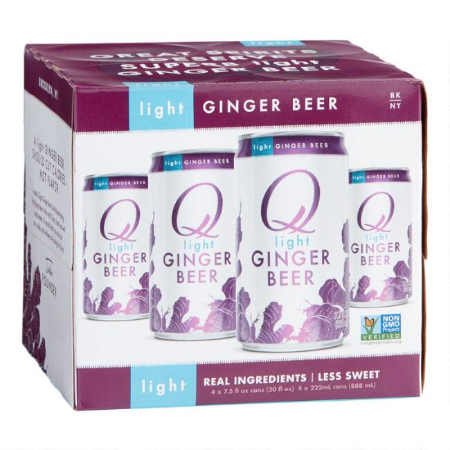 Q Mixers Light Ginger Beer Cans 4 Pack