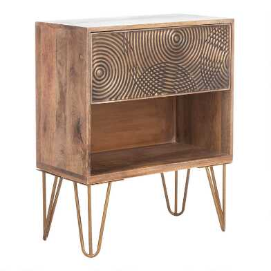 Wood Durham Nightstand with Drawer