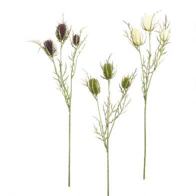 Faux Thistle Sprays Set Of 3