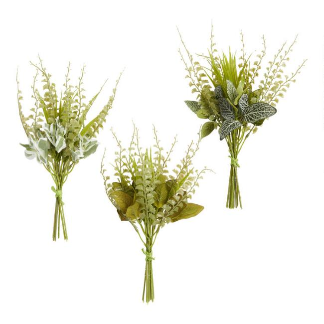 Faux Fern And Leaf Bundles Set Of 3