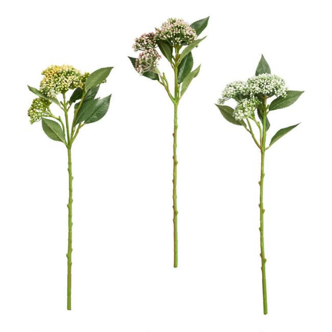 Large Faux Berry Stems Set Of 3