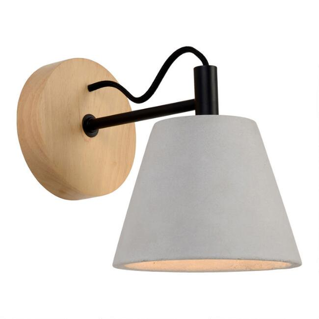Wood and Concrete Hayes Wall Sconce