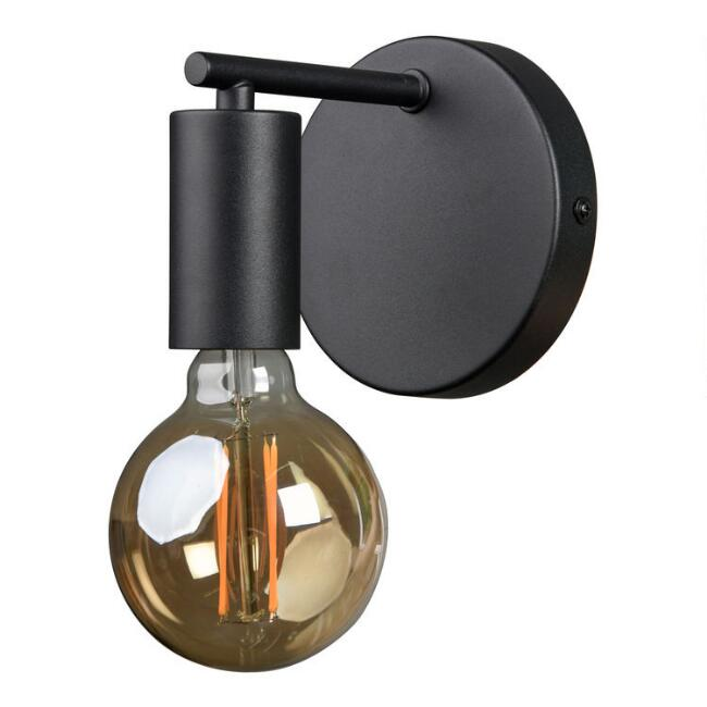 Black Metal Handen Wall Sconce