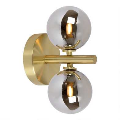 Satin Brass Dual Bulb Bryson Wall Sconce