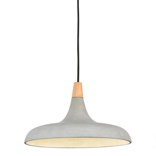 Concrete and Wood Hunter Pendant Lamp