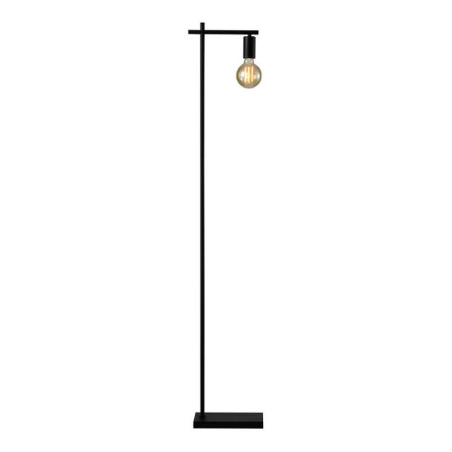 Black Metal Industrial Stellan Floor Lamp