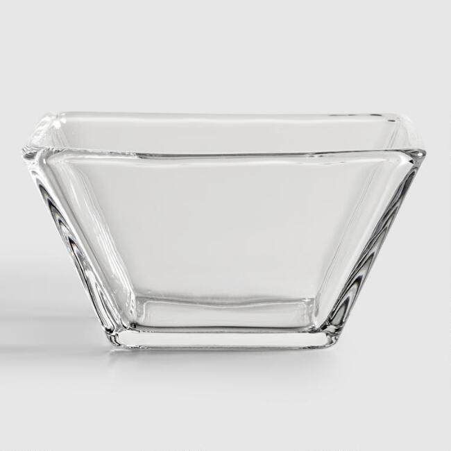 Tempo Square Glass Tasting Bowls, Set of 4