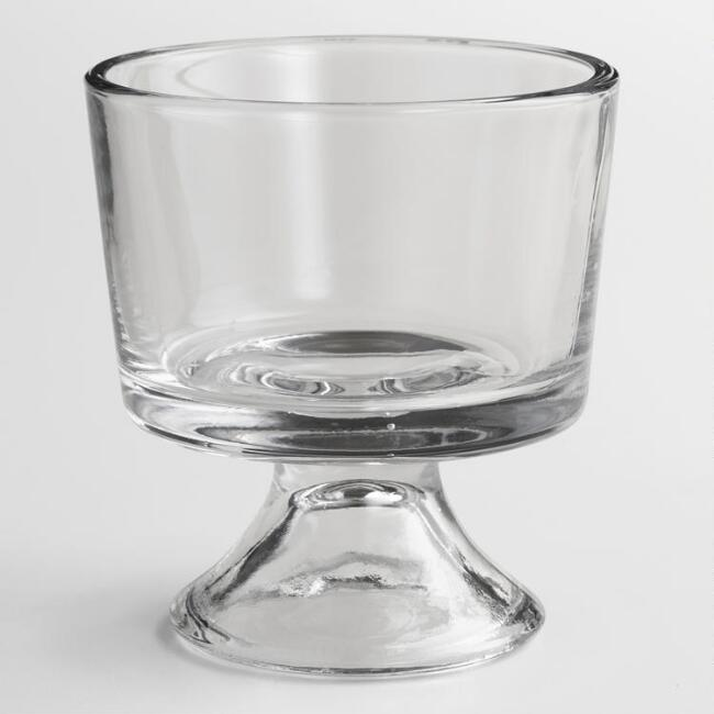 Clear Glass Individual Trifle Bowls Set Of 4