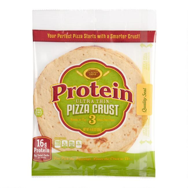 Golden Home Protein 7 Inch Ultra Thin Pizza Crust 3 Pack