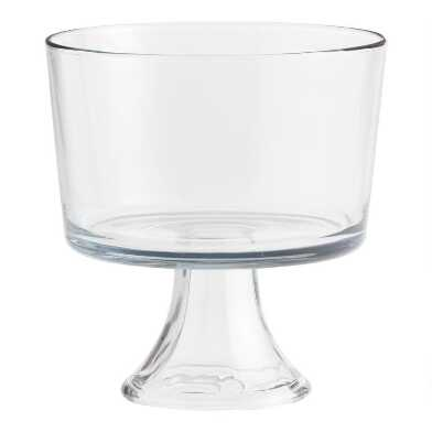 Clear Glass Trifle Serving Bowl