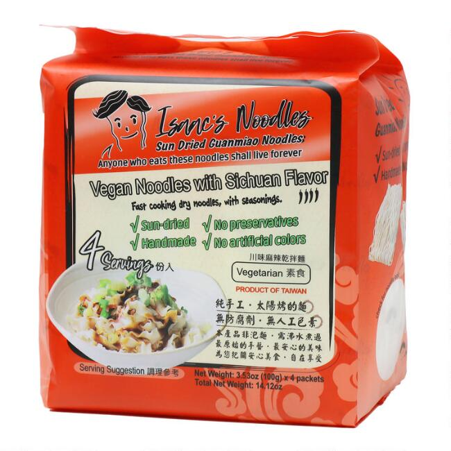 Isaac's Noodles Spicy Sichuan Noodles 4 Pack