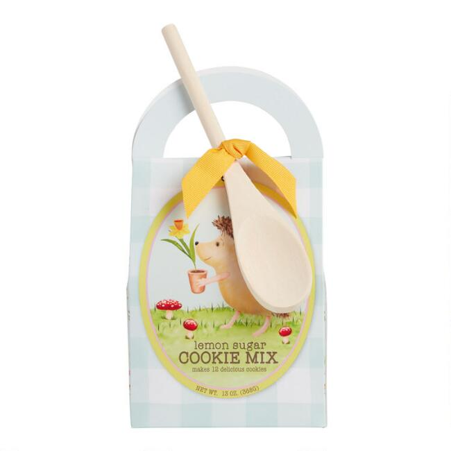 Lemon Sugar Cookie Mix with Mini Wooden Spoon