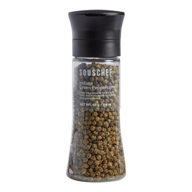 Sous Chef Indian Green Peppercorns in Grinder
