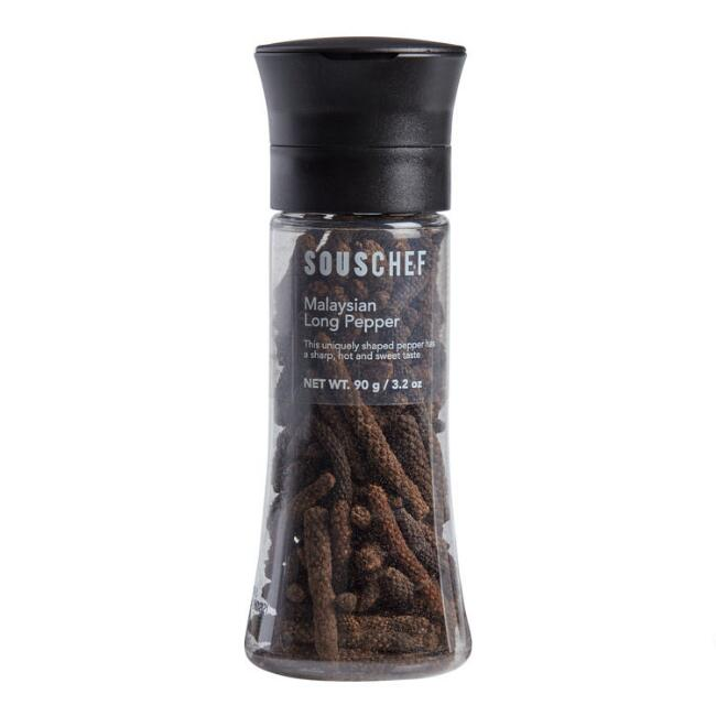 Sous Chef Malaysian Long Peppercorns in Grinder