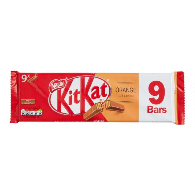 Nestle Kit Kat Orange Chocolate Wafer Bars 9 Piece