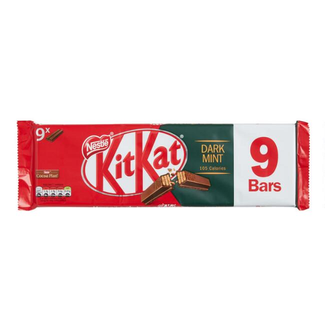 Nestle Kit Kat Dark Chocolate Mint Wafer Bars 9 Piece