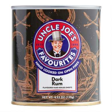 Uncle Joe's Dark Rum Hard Candy Tin