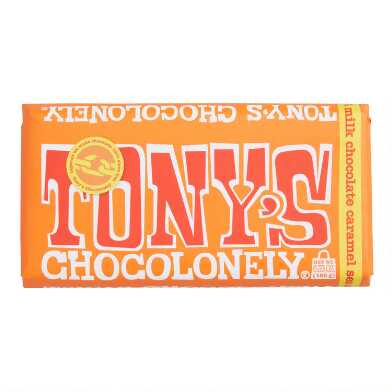 Tony's Chocolonely Caramel Sea Salt Milk Chocolate Bar