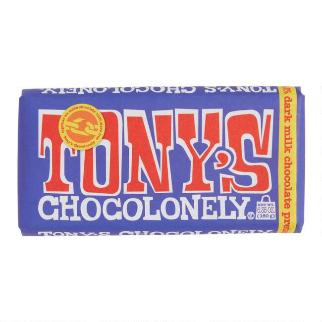 Tonys Chocolonely Pretzel Toffee Dark Milk Chocolate Bar