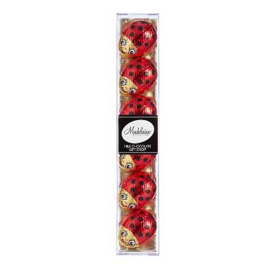 Madelaine Milk Chocolate Ladybug Stick 6 Piece